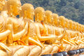 Golden buddha buddha memorial park nakorn nayok thailand Stock Photography