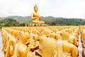 Golden buddha buddha memorial park nakorn nayok thailand Stock Photo