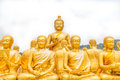 Golden buddha at buddha memorial park nakorn nayok thailand Royalty Free Stock Photo
