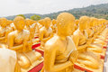 Golden buddha at buddha memorial park nakorn nayok thailand Royalty Free Stock Photos