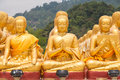 Golden buddha at buddha memorial park nakorn nayok thailand Royalty Free Stock Image