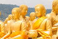 Golden buddha at buddha memorial park nakorn nayok thailand Royalty Free Stock Images
