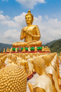 Golden buddha at buddha memorial park nakorn nayok thailand Stock Image