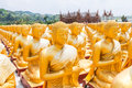 Golden buddha at buddha memorial park nakorn nayok thailand Royalty Free Stock Photography