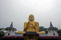 Golden Buddha in dambullla Royalty Free Stock Photo