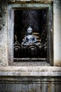 Golden Buddha Image on ancient Pagond, TH. Stock Images