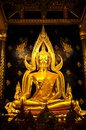 Golden buddha image in Phisanulok,Thailand Royalty Free Stock Images