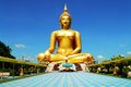Golden buddha image a in the temple thailand Stock Image
