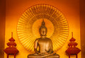 Golden buddha meditation Royalty Free Stock Photo