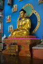 Golden buddha of rinpoche bagsha datsan monastery in ulan ude russia a center devoted to preservation development distribution Royalty Free Stock Photography