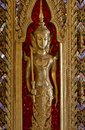 Golden Buddha statue . Royalty Free Stock Photos