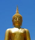 Golden buddha statue the big in thailand Stock Images