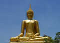Golden buddha statue the big in thailand Stock Image