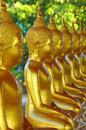 Golden buddha statue in a temple thailand Royalty Free Stock Photo