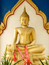 Golden buddha statue in temple thailand Stock Photography