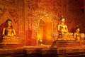 Golden buddha statue in Thai temple Royalty Free Stock Images