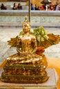 Golden Buddha statue in Thailand Buddha Temple, Bangkok Royalty Free Stock Photo