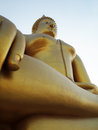 Golden buddha statue in thailand the great Stock Image