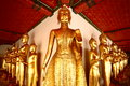 Golden buddha statue thailand wat pho bangkok Stock Photo