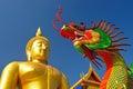 Golden buddha statue at wat muang in angthong thailand Stock Photo