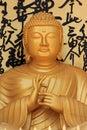 Golden Buddha statue at World Peace Pagoda in Pokhara, Nepal