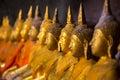 Golden Buddha statues Royalty Free Stock Photos
