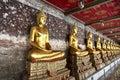 A golden buddha statues bangkok thailand Stock Photography