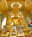 Golden buddha statues in wat pho bangkok thailand Stock Photos