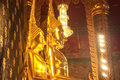 Golden buddha in thailand statue Stock Photography