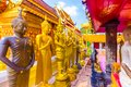 Golden Buddhas of Wat Phra That Doi Suthep temple in Chiang Mai, Thailand Royalty Free Stock Photo