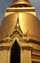 Golden buddhist temple gable part of the at thailand Stock Image