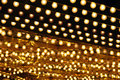 Golden bulbs marquee Royalty Free Stock Photo
