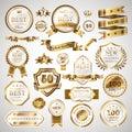 Golden business labels set