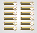 Golden buttons with the astrological signs of the zodiac Royalty Free Stock Photo