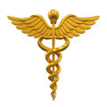 Golden Caduceus Medical Symbol Royalty Free Stock Photo