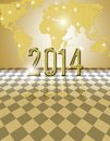 Golden card happy new year festive Royalty Free Stock Photo