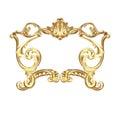 Golden cartouche