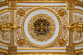Golden ceiling in the hermitage museum st petrburg russia Stock Photos