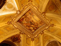 Golden ceiling richly decorated in a roman church italy Royalty Free Stock Photography