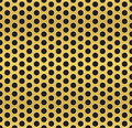 Golden cell background vector pattern Royalty Free Stock Images