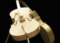 Golden cellos Royalty Free Stock Photo