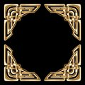 Golden celtic corners