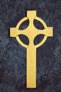 Golden Celtic Cross