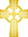 Golden Celtic Cross/eps