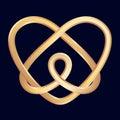 Golden celtic heart