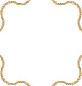 Golden Chain of Abstract Shape Royalty Free Stock Photo