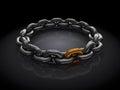 Golden chain link