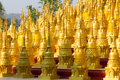Golden chedi Stock Photos