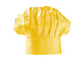 Golden chef hat or toque Royalty Free Stock Photos