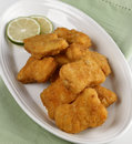 Golden Chicken Nuggets Royalty Free Stock Images